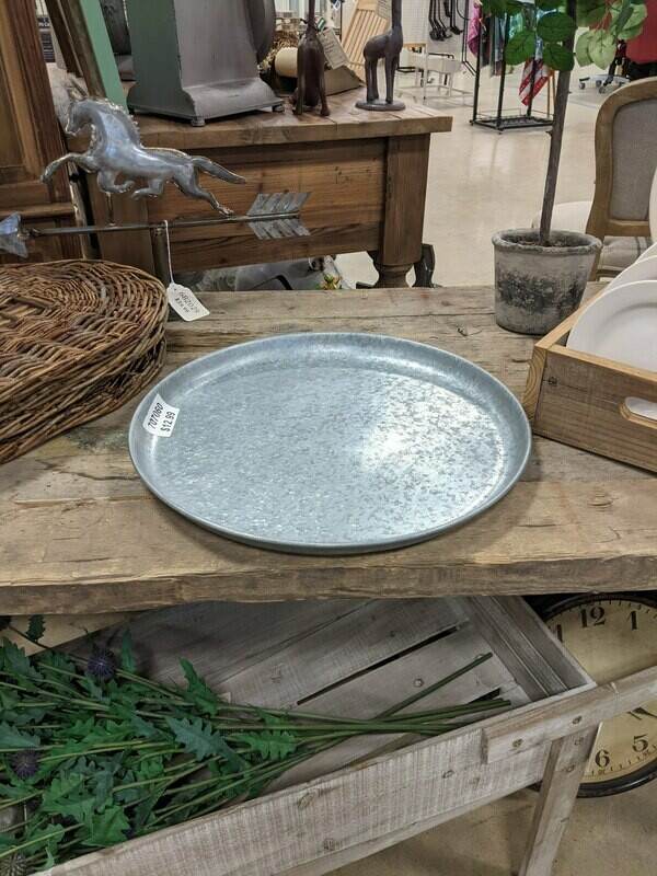 Round Galvanized Tray