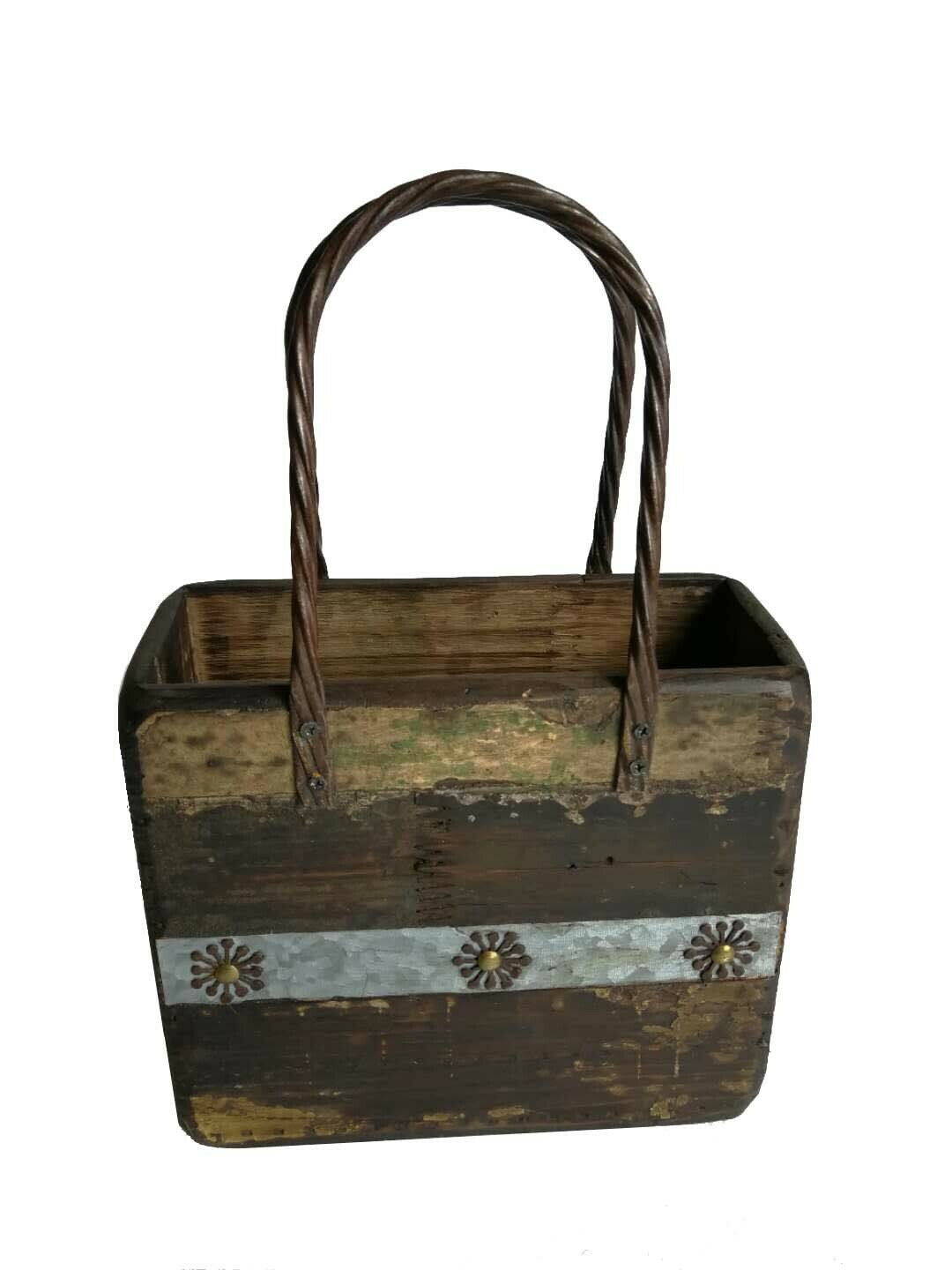 Small Wooden Planter Purse