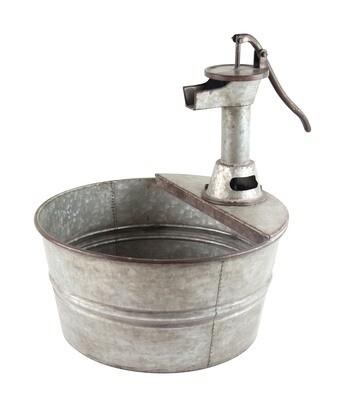 Metal Wash Tub Planter
