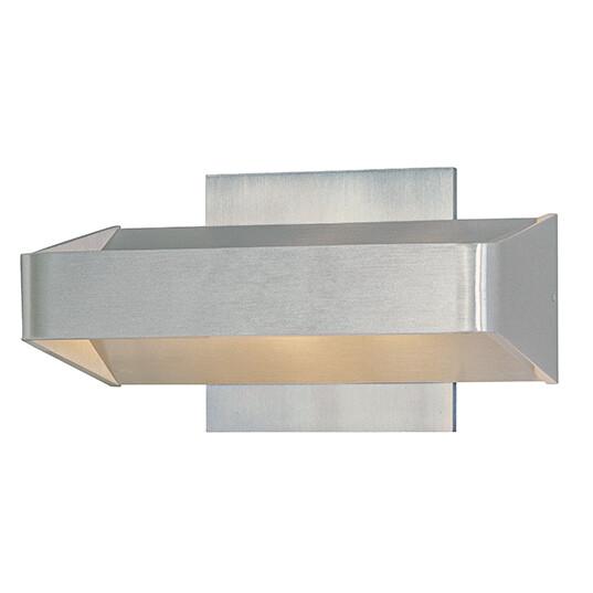 Alumilux Satin Aluminum 2 Lt Exterior Wall Sconce