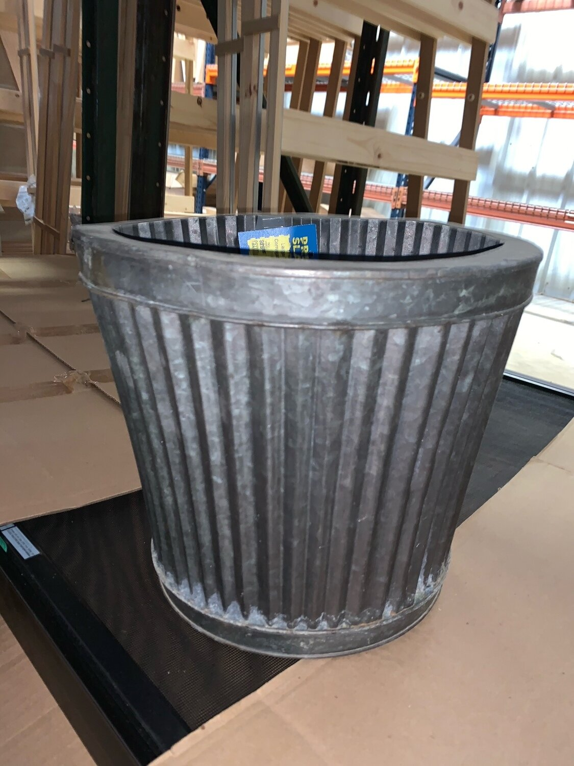 Large Tapered Corrugated Planter