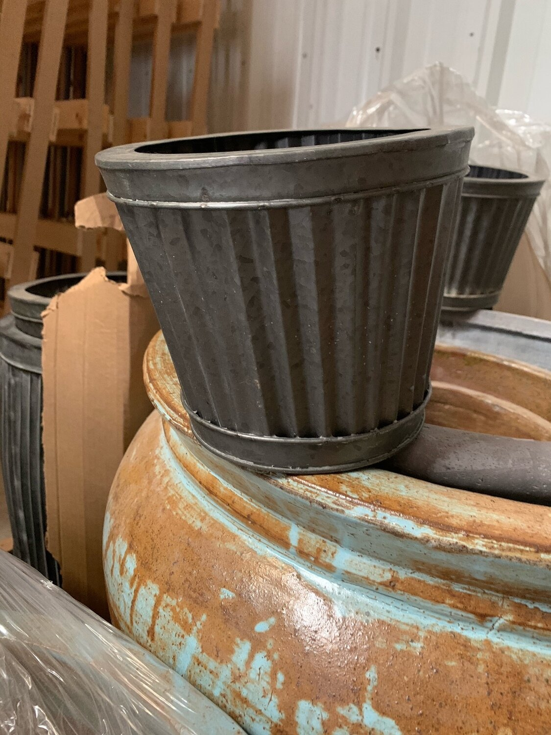 Small Tapered Corrugated Planter (DISPLAY ONLY)