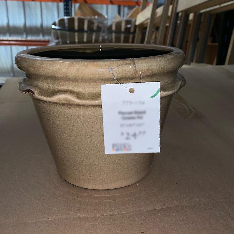 Piecrust Glazed Ceramic Pot Planter