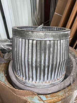 Small Tin Corrugated Planter