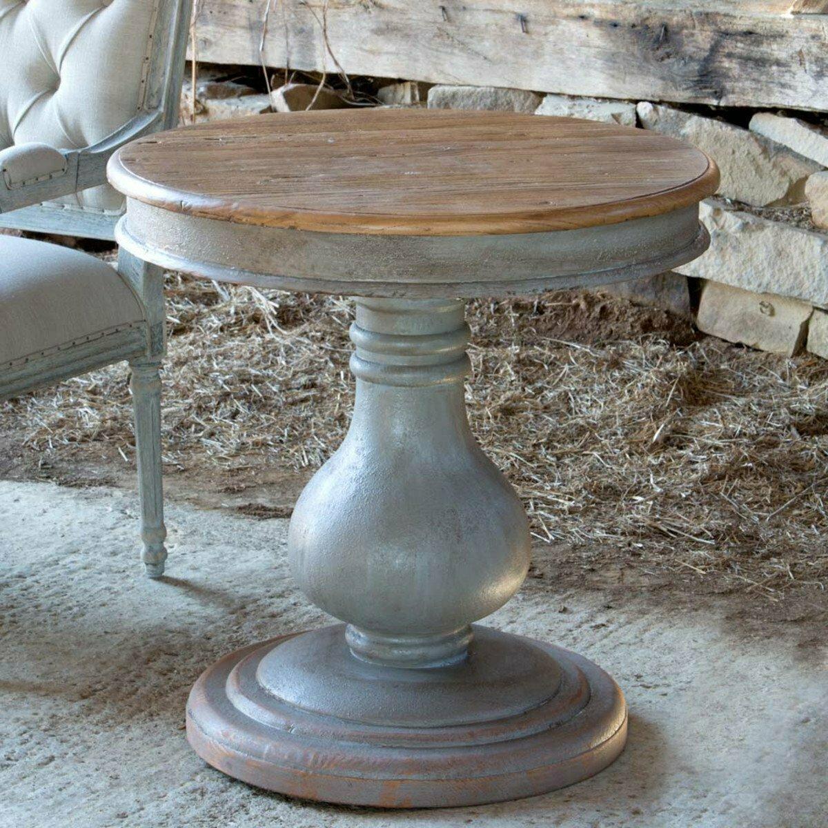 Vintage Wooden Pedestal Table (DISPLAY ONLY)