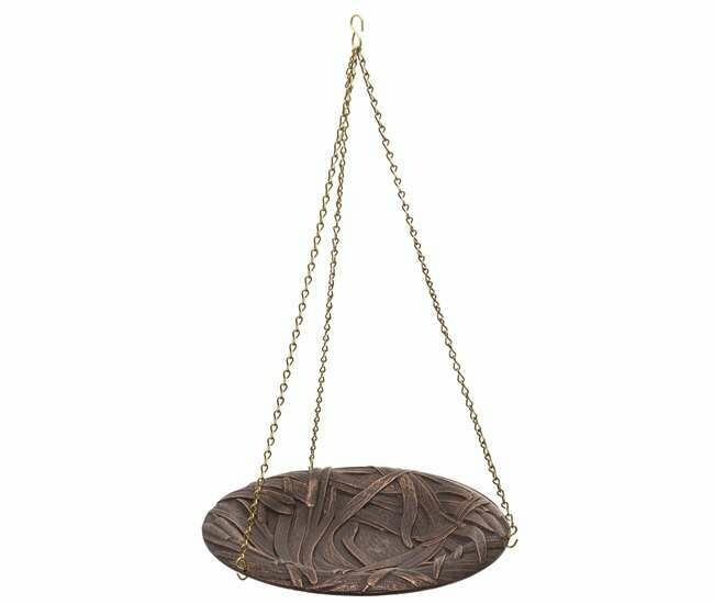 Oil Rubbed Bronze Hanging Birdbath