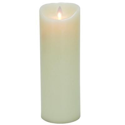 Mystique Flameless Ivory Wax Candle