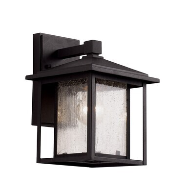 Grove Black Small 1 Lt Exterior Wall Lantern
