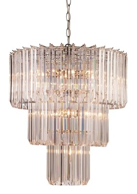 Tranquility Polish Chrome 9 Lt 3 Tier Chandelier (DISPLAY ONLY)