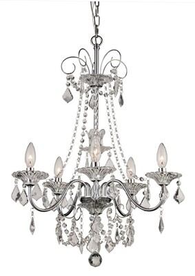 Niagra Polished Chrome 5 Lt Chandelier (DISPLAY ONLY)