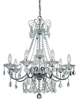 Niagra Polished Chrome 8 Lt Chandelier (DISPLAY ONLY)