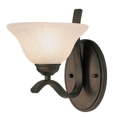 Hollyscope Rubbed Oil Bronze 1 Lt Sconce (DISPLAY ONLY)