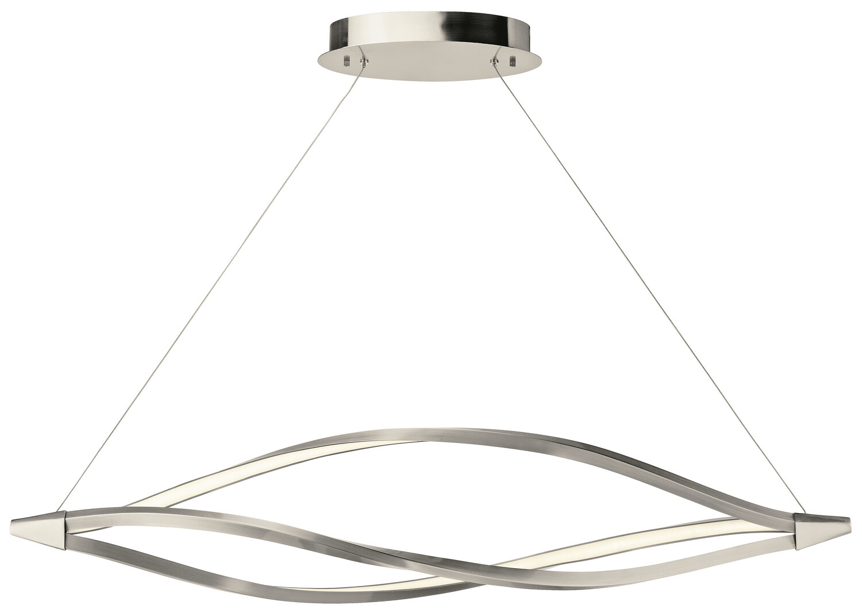 Meridian Brush Nickel / Etched Acrylic LED Pendant