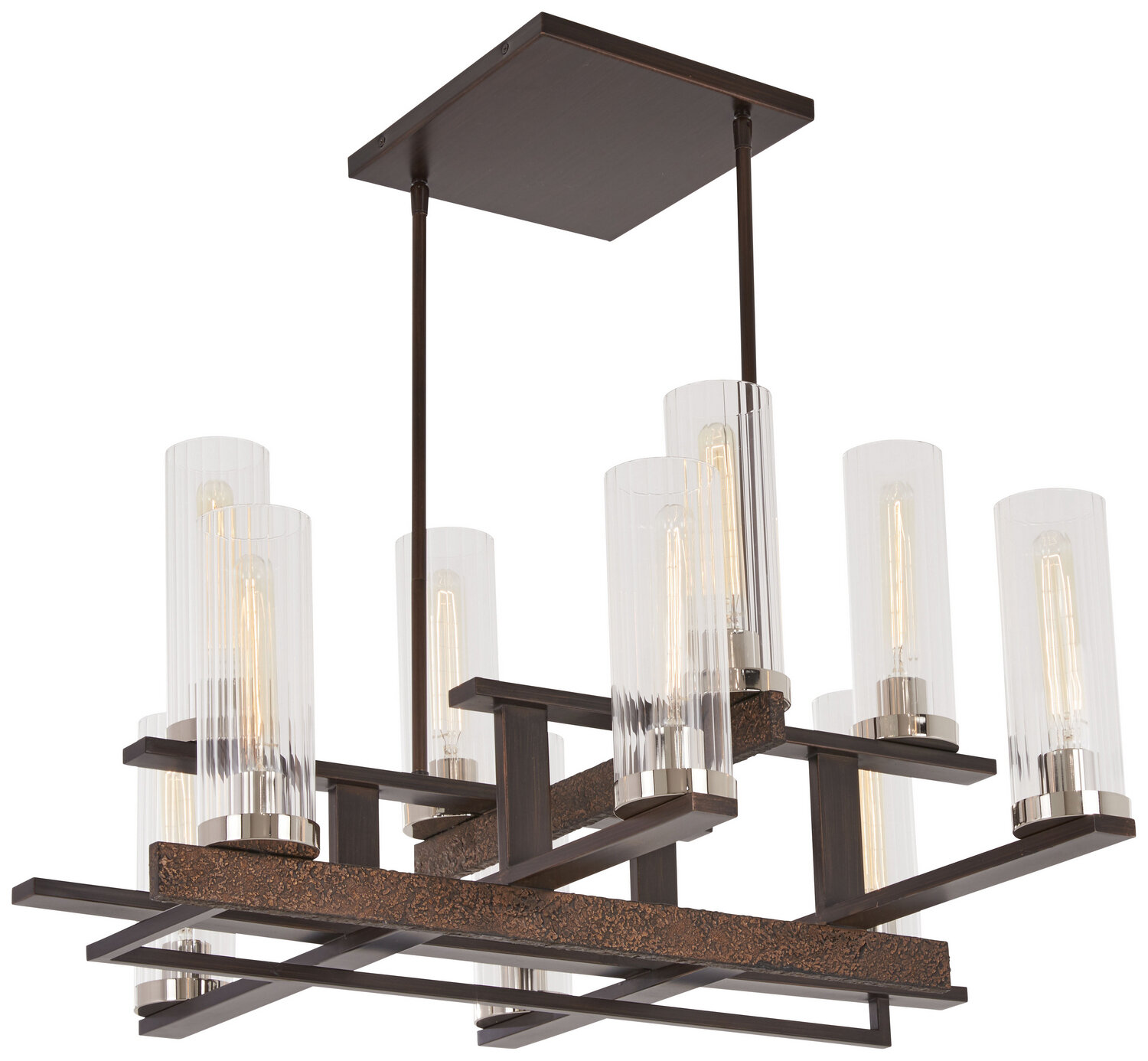 Maddox Roe Iron Ore / Gold 10 Lt Chandelier (DISPLAY ONLY)