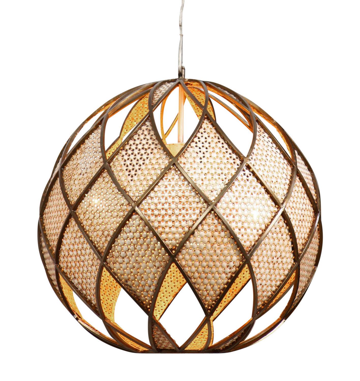 Argyle Bronze / Desert Pearl 5 Lt Ball Pendant (DISPLAY ONLY)