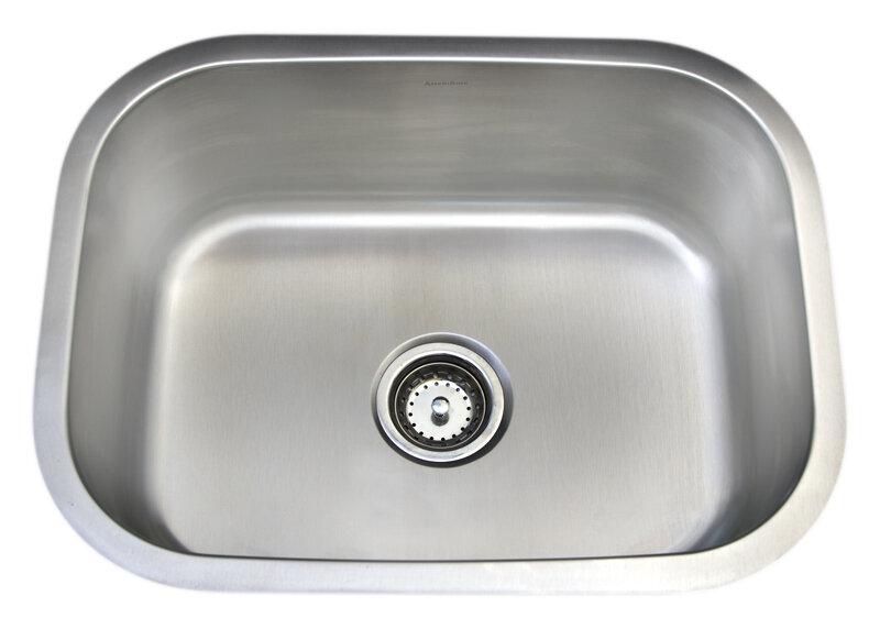 Deluxe 18 Gauge 304 Stainless Steel Single Undermount Sink