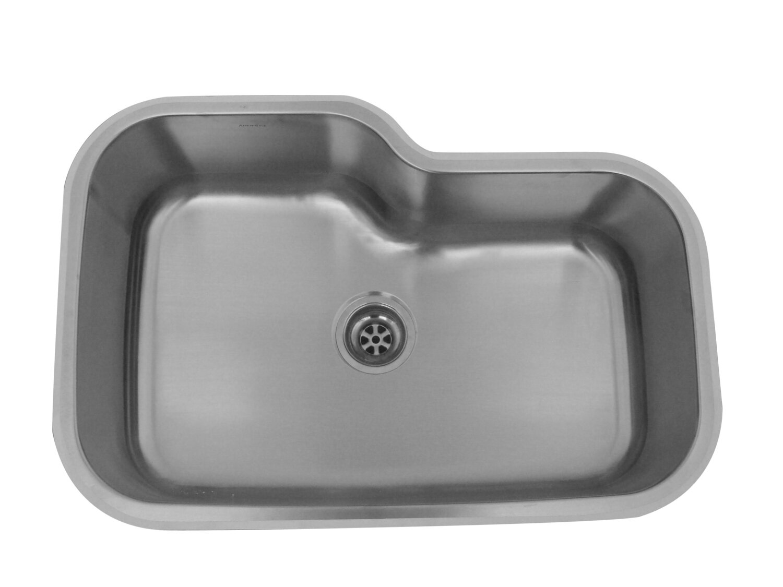 Deluxe 18 Gauge 304 Stainless Steel Undermount Sink