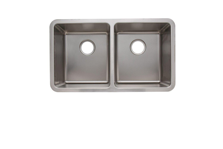 Trend 18 Gauge 304 Stainless Steel Double Undermount Sink