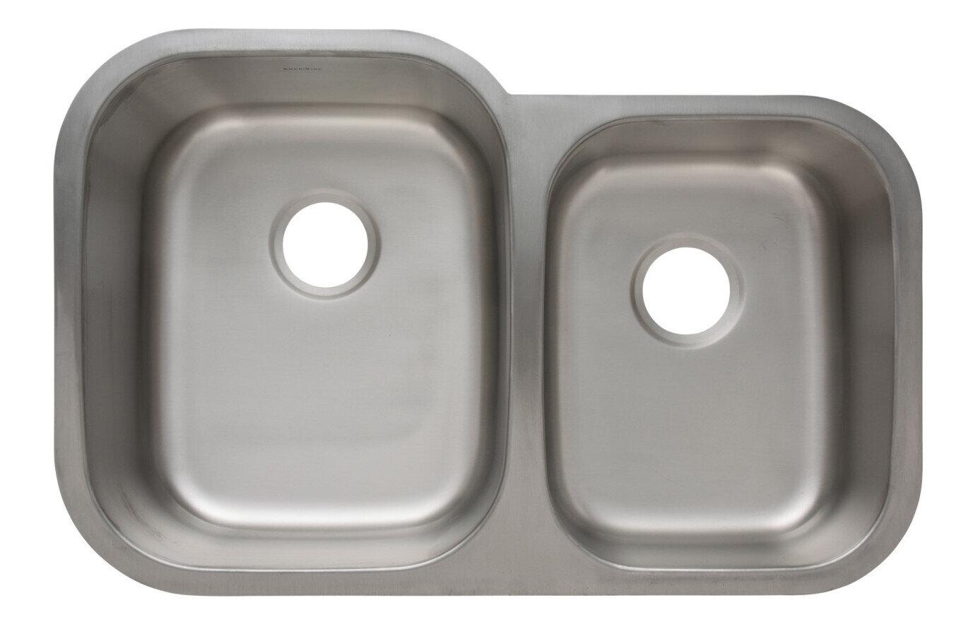 Trend 16 Gauge 304 Stainless Steel Double Undermount Sink