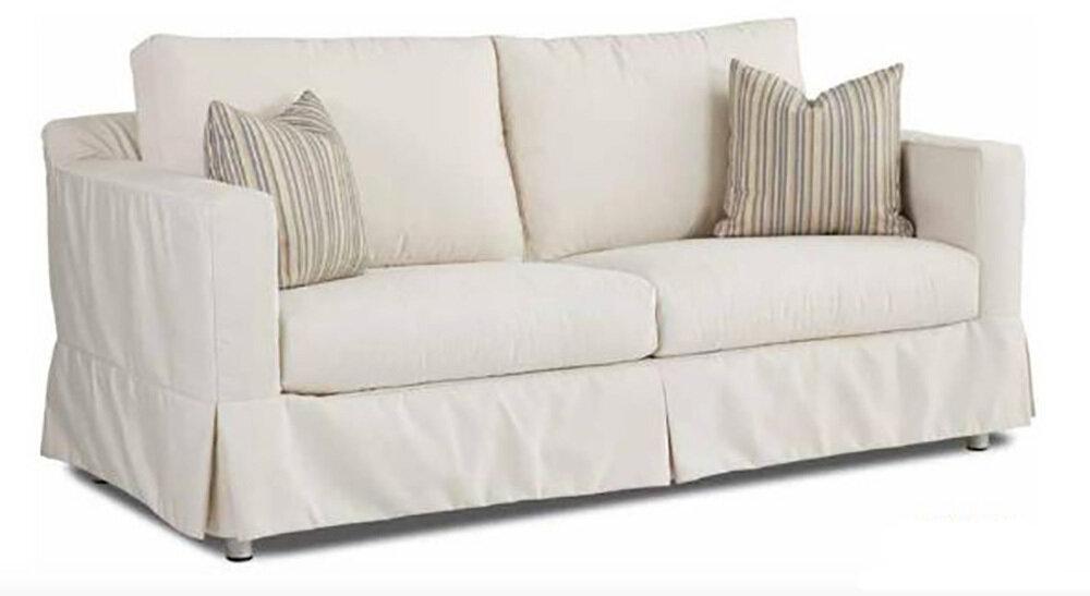 White Canvas Sofa Frame & Slip Cover