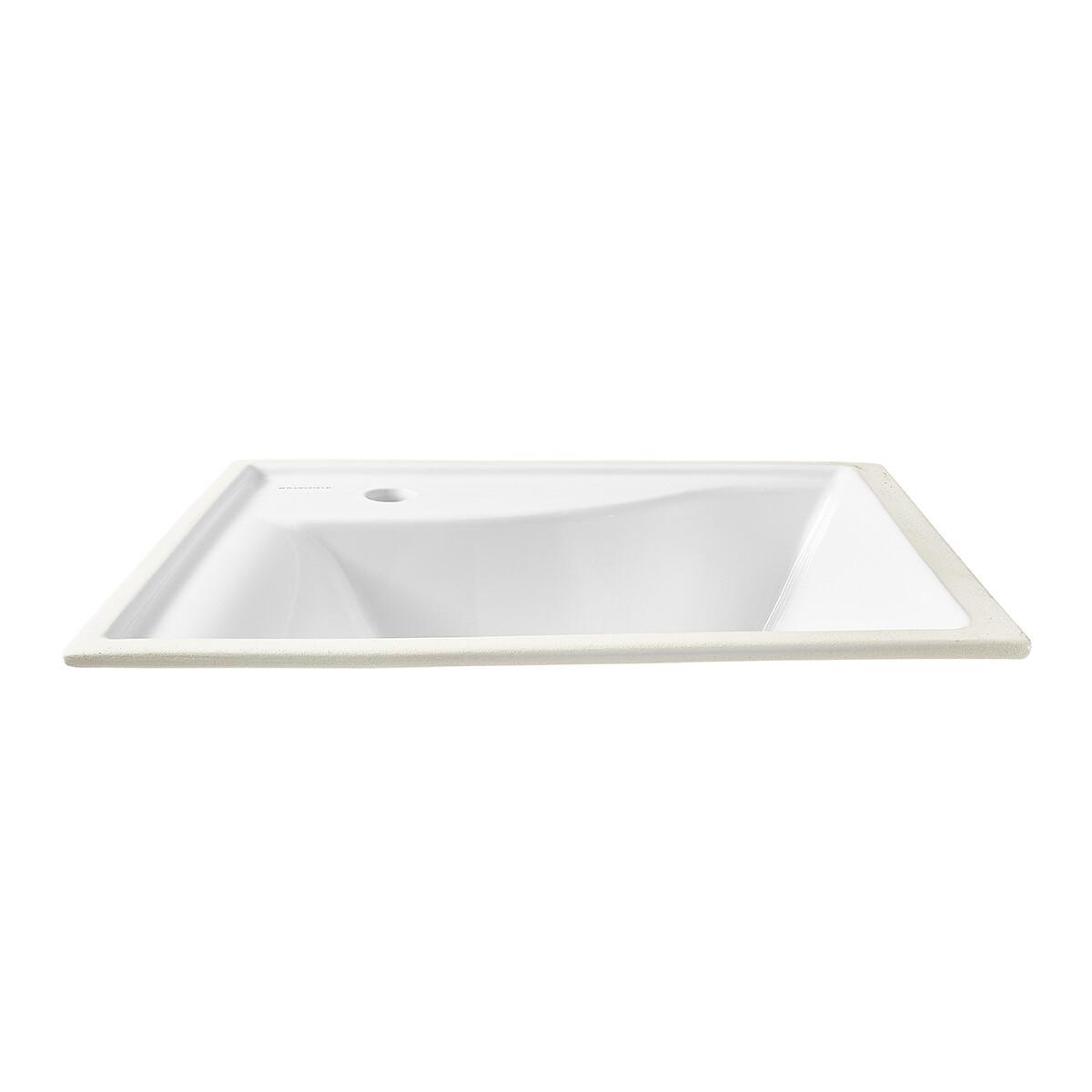 Aramis White Under Counter Single Hole Lavatory