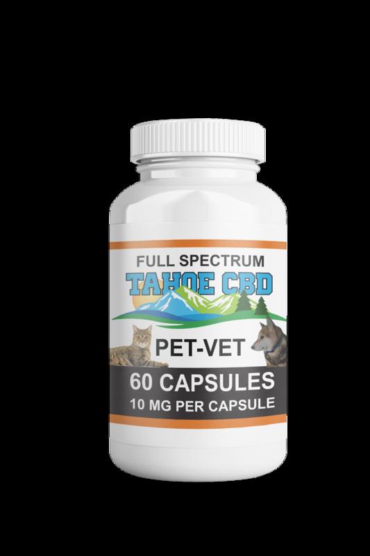Tahoe CBD Full Spectrum Pet Vet Capsules 10mg/Capsule-60 Count