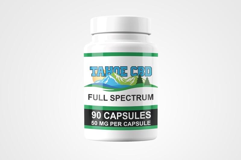 Tahoe CBD Full Spectrum Capsules 50mg/90 Count