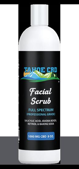 Tahoe CBD Facial Scrub~1000mg CBD 16 oz.