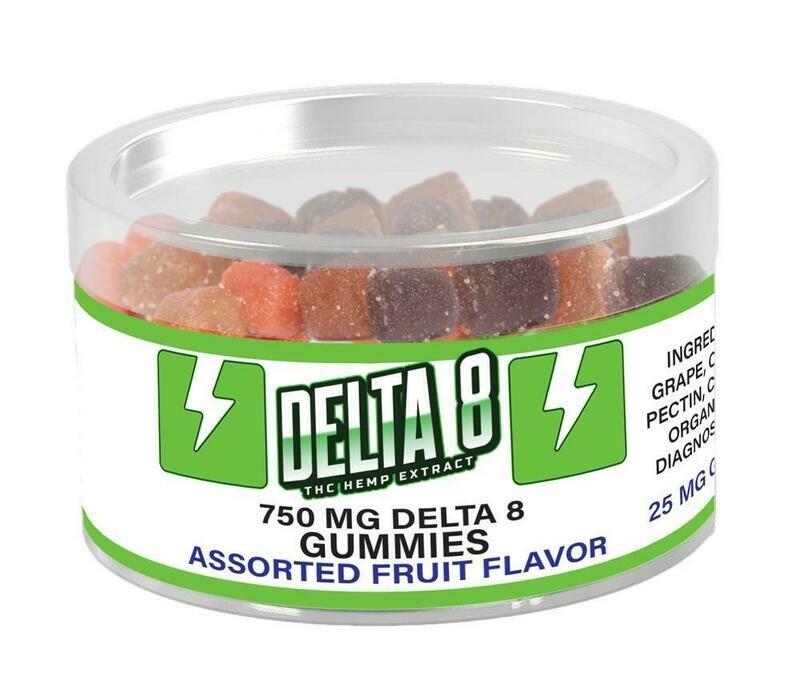 Delta 8 Gummies-25mg Each, 750mg Total Delta 8