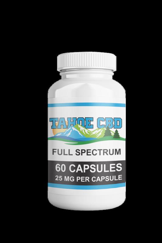Tahoe CBD Full Spectrum Capsules 25mg/60 Count