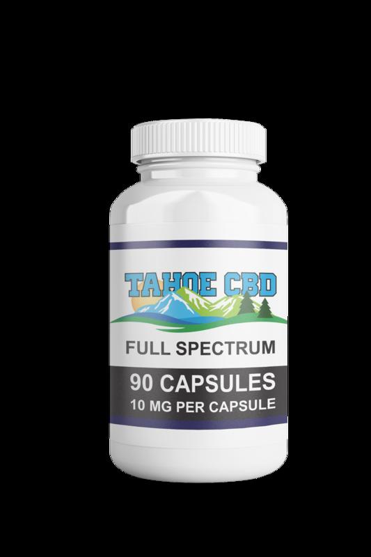 Tahoe CBD Full Spectrum Capsules 10mg/90 Count