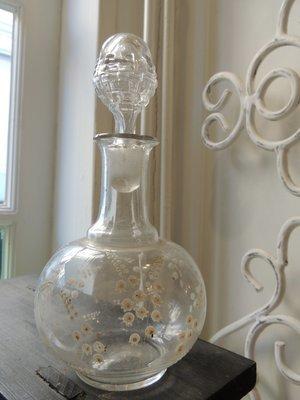 Oud glazen karafje