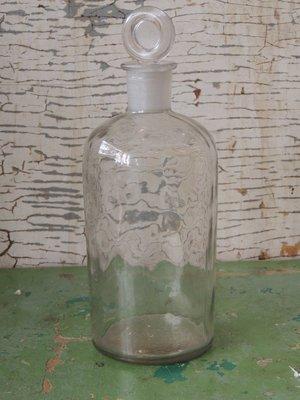 Oude fles met stop
