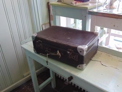 Donkerbruine koffer