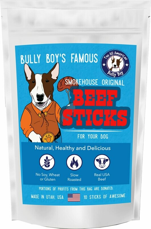 Beef Jerky Sticks for Dogs - 3 Sizes Available - Starting at: