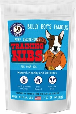 9 Bags (1 Case) Beef Jerky Training Nibs for Dog Training - 16 oz Bags