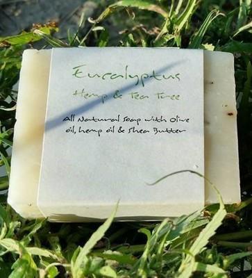 Eucalyptus Hemp & Tea Tree Soap (Vegan, All Natural