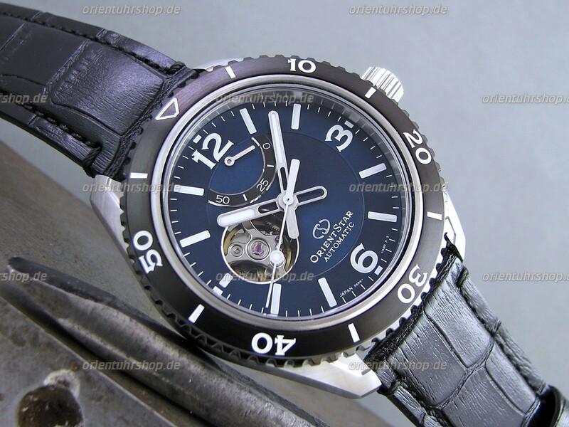 Orient Star Open Heart Automatik Uhr RE-AT0104E00B