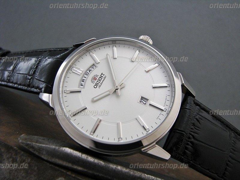 Orient Wide Calendar Edelstahl Herrenuhr FEV0U003WH