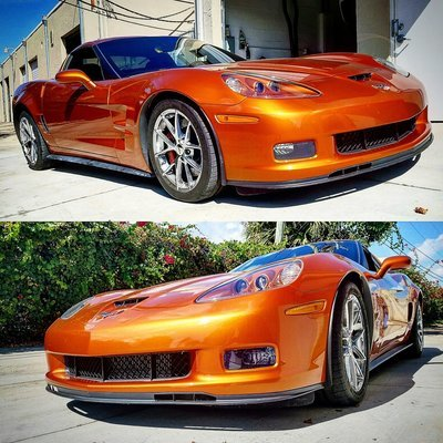 C6 G3-ZR1-Style Wide Body Aero System:  Includes Side Skirts (pair) and Front Splitter)