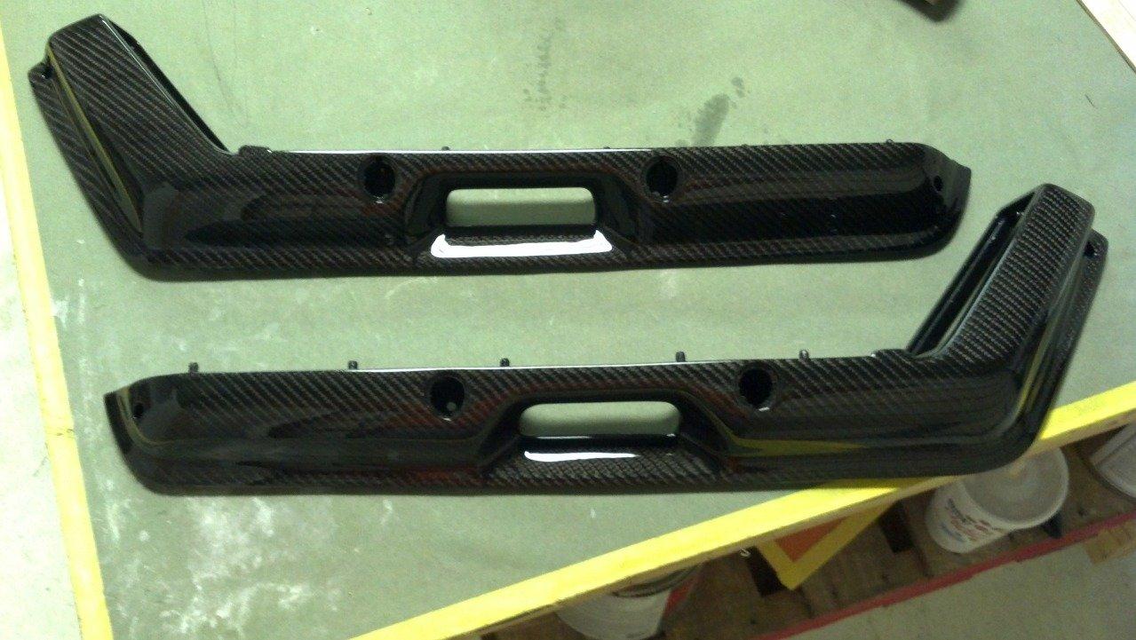 Fox Body Mustang Door Panel Armrests Pair Carbon Fiber