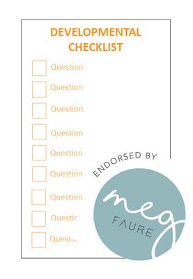 Developmental Checklist 6-12 months