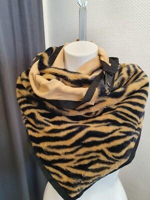 Sjaal zebra bruin