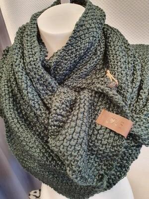 Groene Sjaal lipje Love