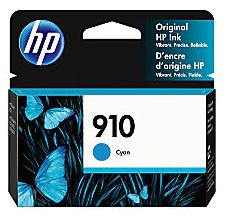 HP 910 Original Ink Cartridge, Cyan 3YL58AN