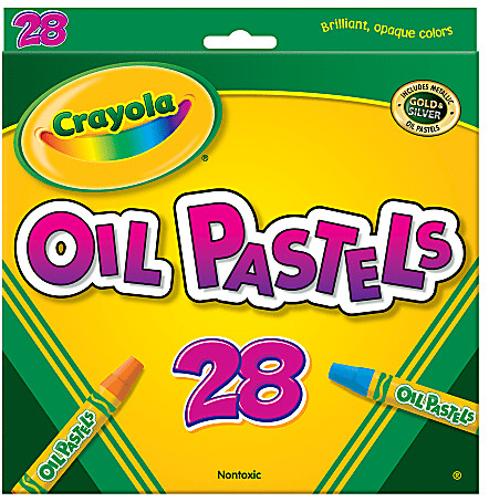 Crayola Oil Pastels, Assorted Colors, Set Of 28 Pastels