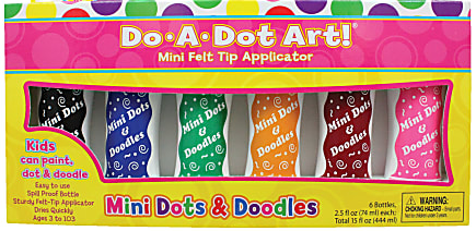 Do-A-Dot Art!™ Mini Felt Tip Markers, Jewel Tone, 2.5 Oz, Assorted Colors, Pack Of 6