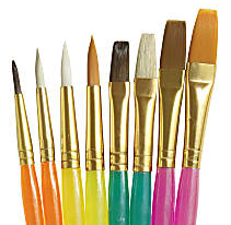 Creativity Street Assorted Paint Brush Set - 8 Brush(es) Translucent Handle