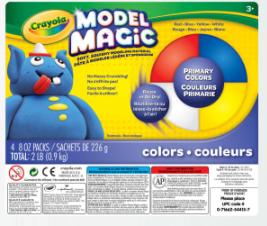 Crayola Model Magic, 2 Lb, Bucket Of 4 Assorted Colors