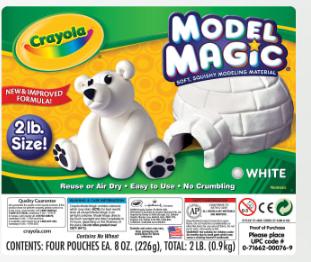 Crayola Model Magic, 2 Lb, Bucket Of White